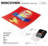 Dvojdílný reklamní skleněný mincovník DIAMOND 2 A-Z Reklama CZ