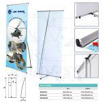 Přenosný stojan Banner display 80x200 konstrukce A-Z Reklama CZ