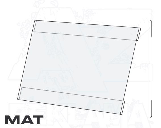 PVC Kapsa A2 tvar C na šířku Matný povrch