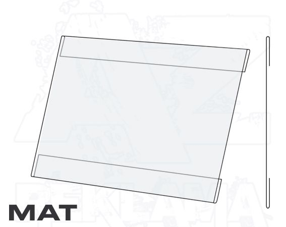 PVC Kapsa A5 tvar C na šířku Matný povrch