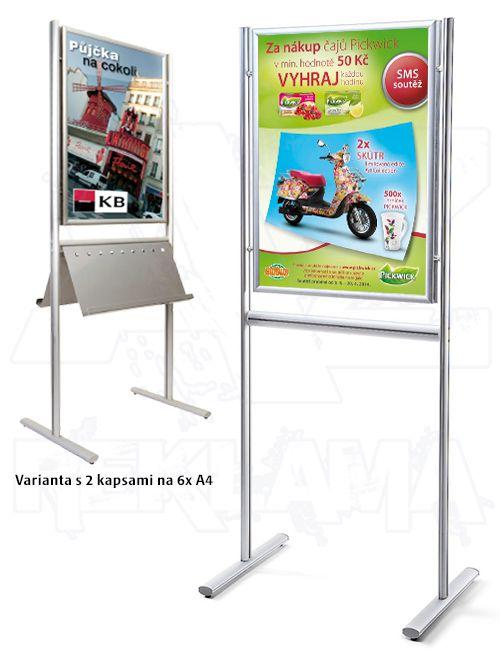 Reklamní stojan Info Board s klaprámem B1 oboustranný