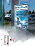 Statická plakátová kapsa na sklo A1