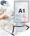 Samolepící magnetický rám A1 - stříbrný