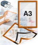 Samolepící magnetický rám A3 - oranžový