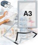 Samolepící magnetický rám A3 - stříbrný