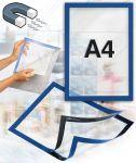 Samolepící magnetický rám A4 - modrý