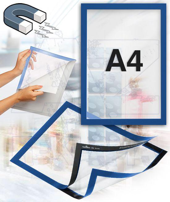 Samolepící magnetický rám DURAFRAME A4 - modrý