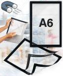 Samolepící magnetický rám A6 - černý