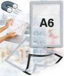 Samolepící magnetický rám A6 - stříbrný