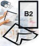 Samolepící magnetický rám B2 - černý