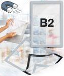 Samolepící magnetický rám B2 - stříbrný