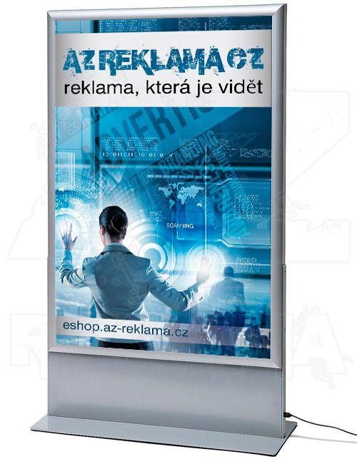 Světelný oboustranný LED plakátový totem 1000x1400 mm