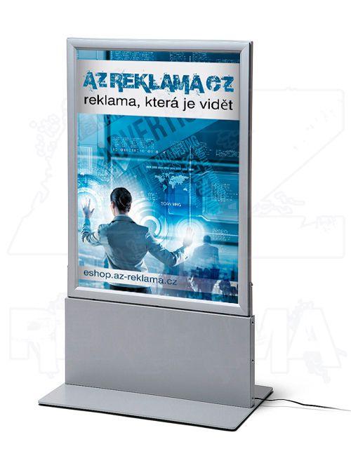 Světelný oboustranný LED plakátový totem A1