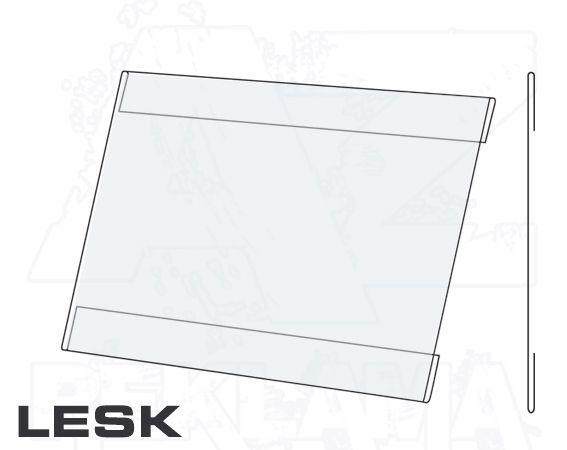 PVC Kapsa 1/2A4 tvar C na šířku Lesklý povrch