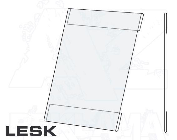 PVC Kapsa 1/2A4 tvar C na výšku Lesklý povrch