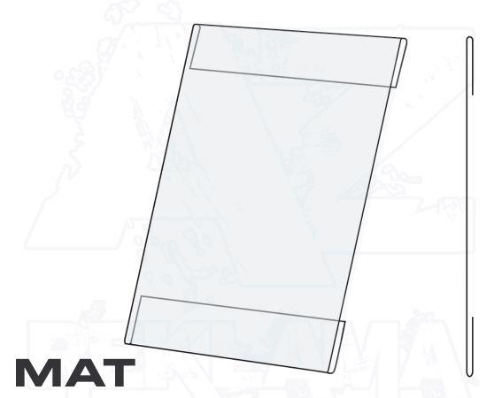 PVC Kapsa 1/2A4 tvar C na výšku Matný povrch