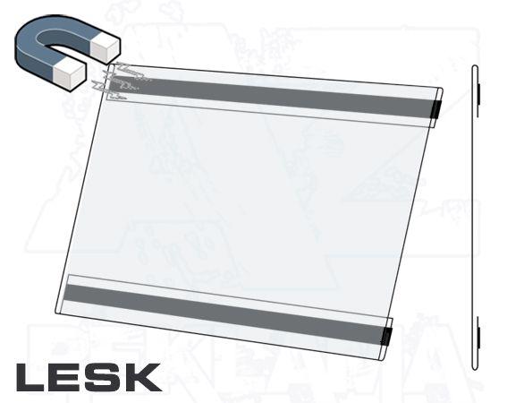 PVC Kapsa A4 tvar C na šířku Lesklý povrch Magnetická