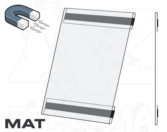PVC Kapsa A4 tvar C na výšku Matný povrch Magnetická