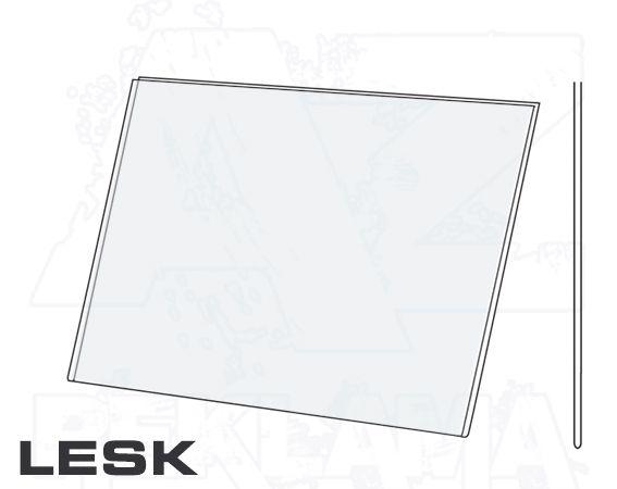 PVC Kapsa A5 tvar U na šířku Lesklý povrch A-Z Reklama CZ