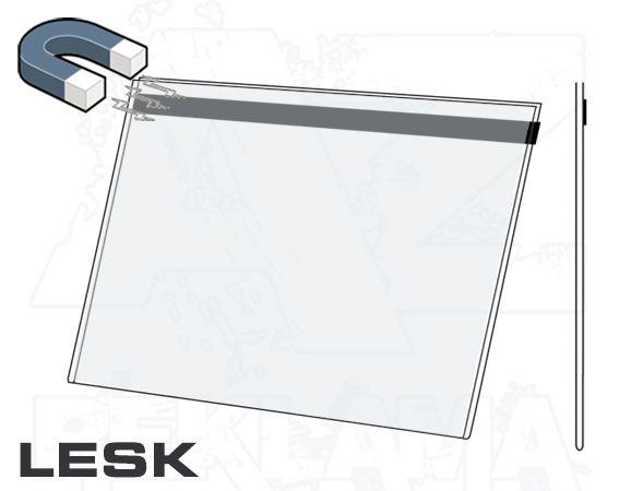 PVC Kapsa DL 1/3A4 tvar U na šířku Lesklý povrch - Magnetická A-Z Reklama CZ