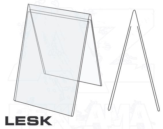 PVC Stojánek tvar A - A7 oboustranný na výšku Lesklý A-Z Reklama CZ