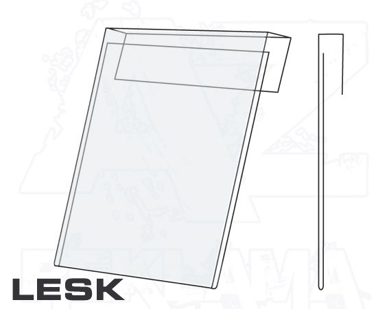 PVC Závěsná kapsa 1/2A4 na výšku Lesklý povrch