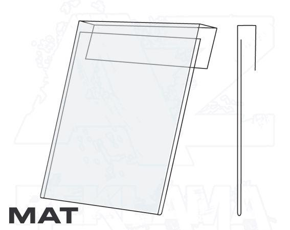 PVC Závěsná kapsa 1/2A4 na výšku Matný povrch