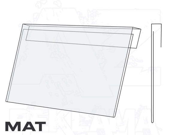 PVC Závěsná kapsa A4 na šířku Matný povrch