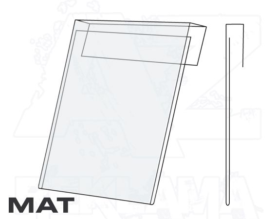 PVC Závěsná kapsa A5 na výšku Matný povrch