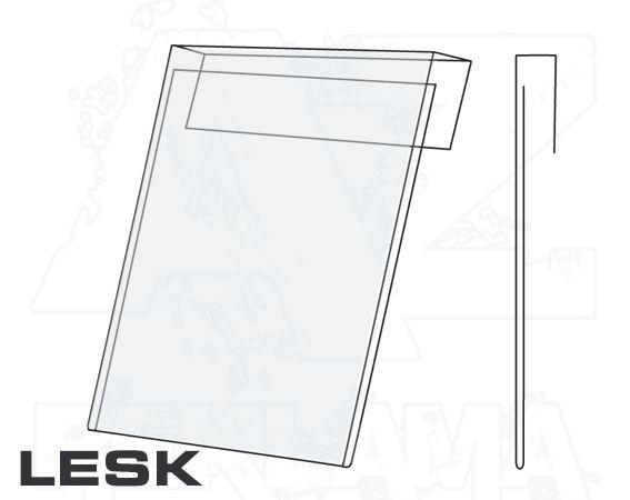 PVC Závěsná kapsa A6 na výšku Lesklý povrch