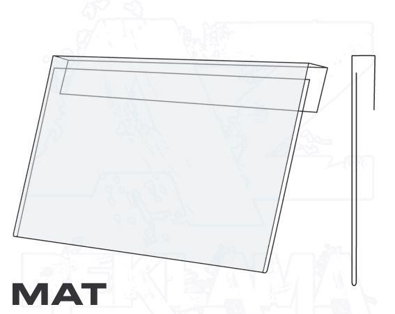 PVC Závěsná kapsa A7 na šířku Matný povrch