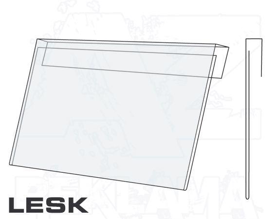 PVC Závěsná kapsa DL 1/3A4 na šířku Lesklý povrch