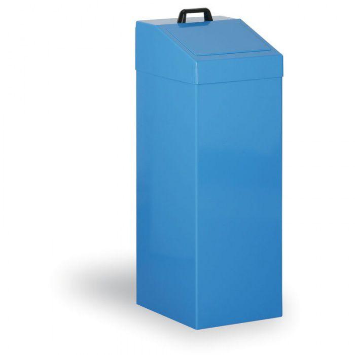 Kovový odpadkový koš na tříděný odpad, 100 l, modrý