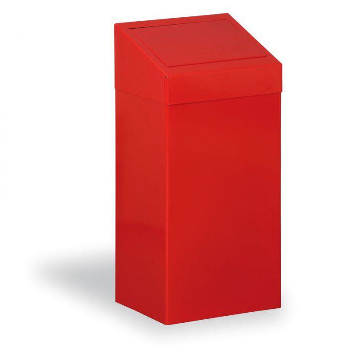 Kovový odpadkový koš na tříděný odpad, 45 l, červený