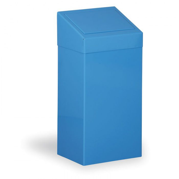 Kovový odpadkový koš na tříděný odpad, 45 l, modrý