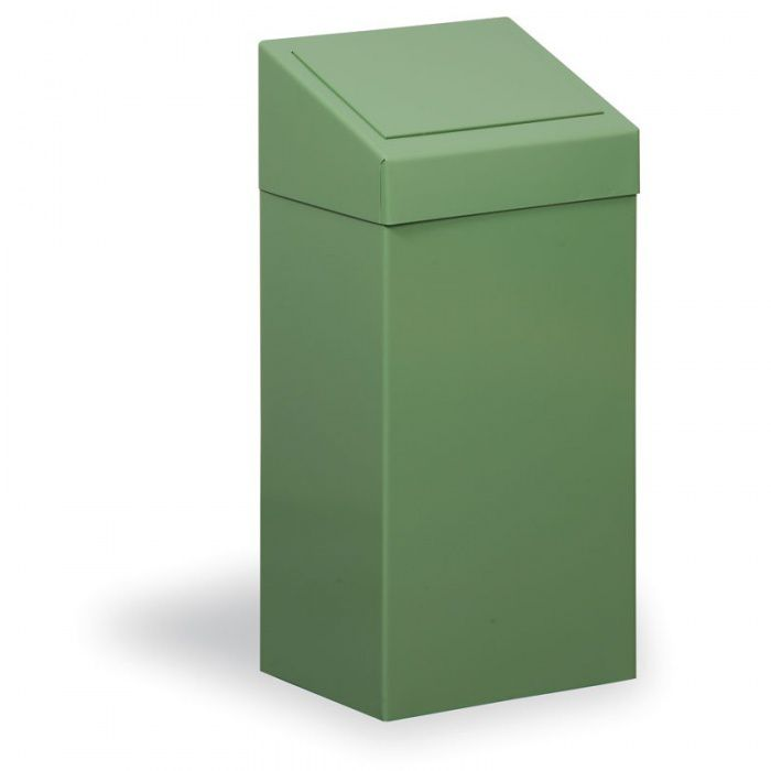 Kovový odpadkový koš na tříděný odpad, 45 l, zelený