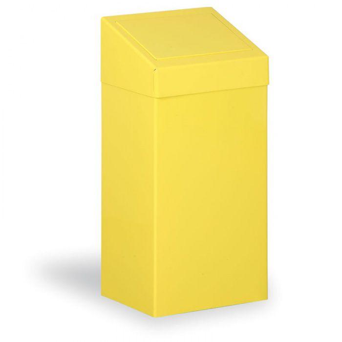 Kovový odpadkový koš na tříděný odpad, 45 l, žlutý