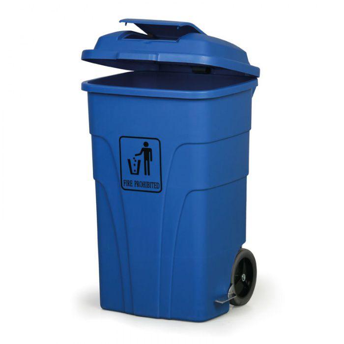 Nášlapný bezúdržbový koš RUBBISH BIN 120 litrů, modrý