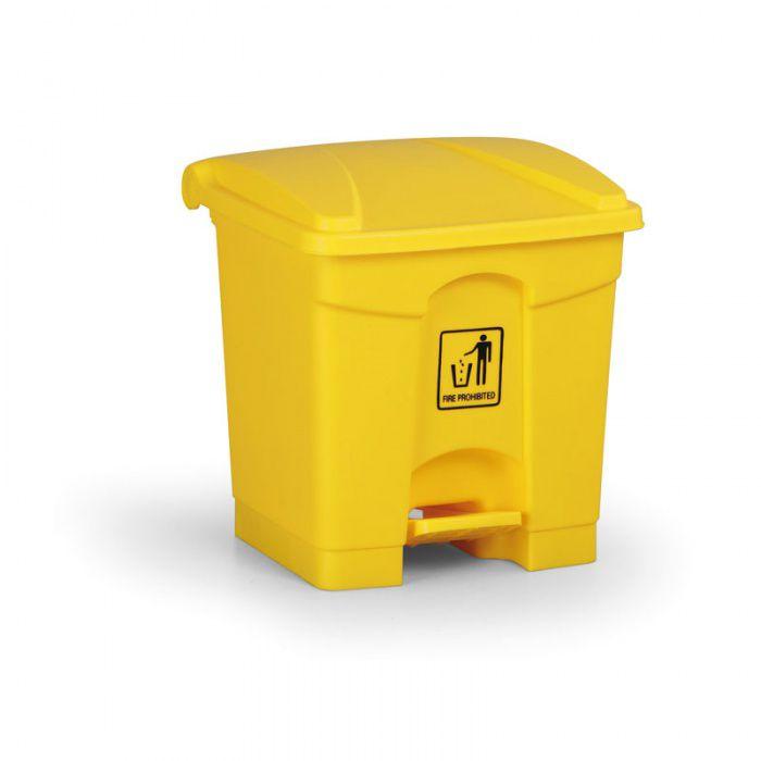 Nášlapný bezúdržbový koš RUBBISH BIN 30 litrů, žlutý