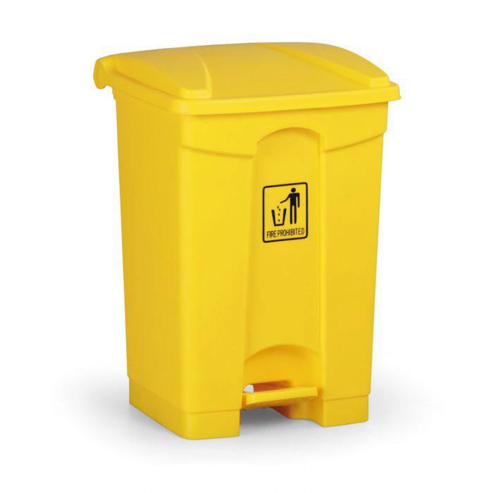 Nášlapný bezúdržbový koš RUBBISH BIN 45 litrů, žlutý
