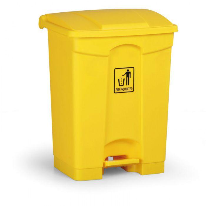 Nášlapný bezúdržbový koš RUBBISH BIN 68 litrů, žlutý