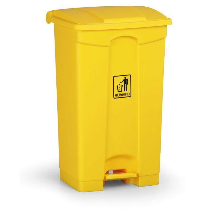 Nášlapný bezúdržbový koš RUBBISH BIN 87 litrů, žlutý