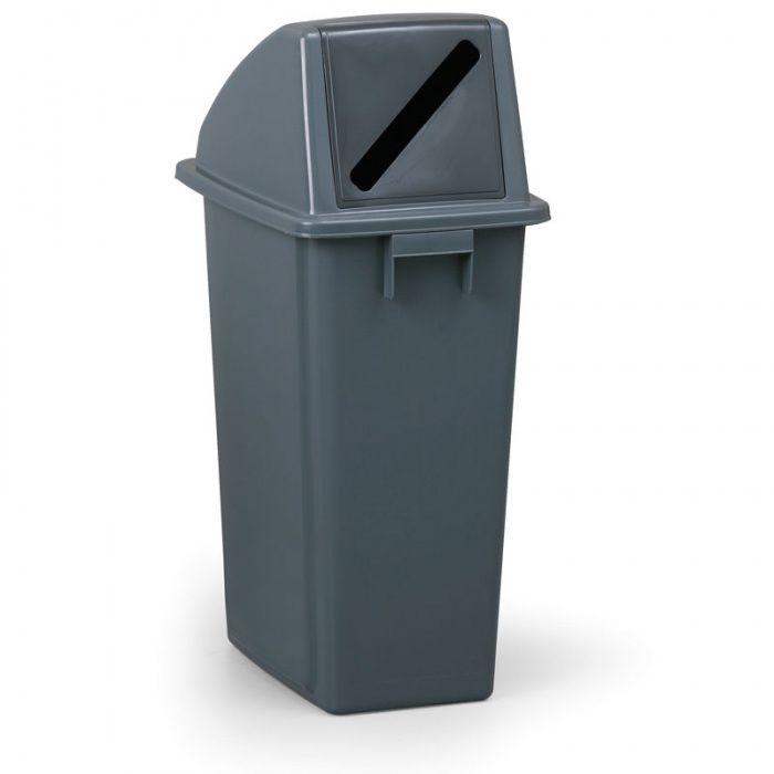 Šedý odpadkový koš na papír, Objem 60 litrů