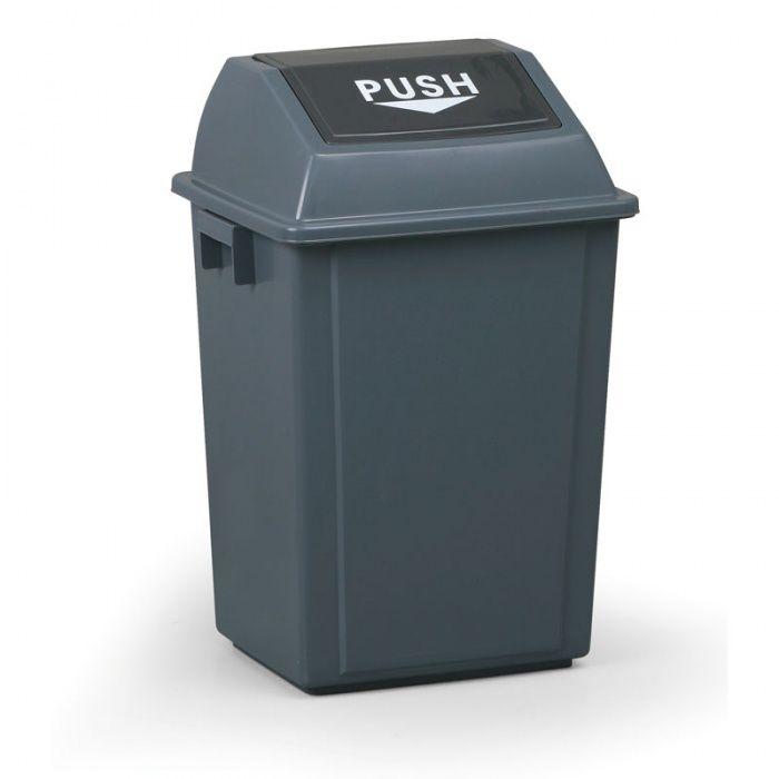 Plastový odpadkový koš hranatý, Objem 40 litrů