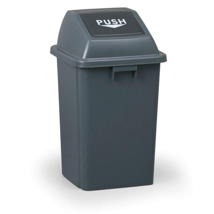 Plastový odpadkový koš hranatý, Objem 60 litrů