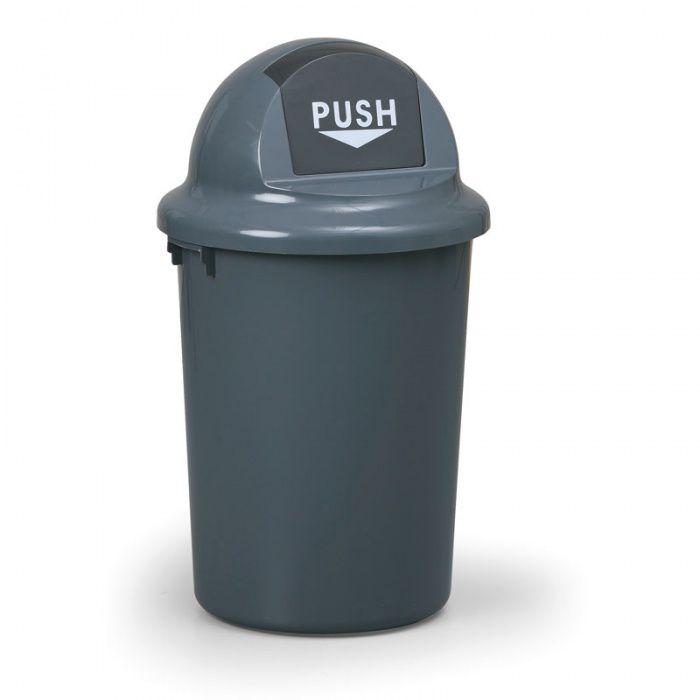 Plastový odpadkový koš oblý 60 litrů
