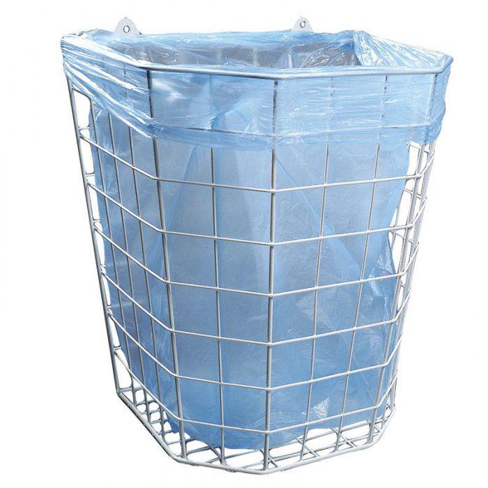 Nástěnný drátěný koš na odpadky o objemu 22 litrů
