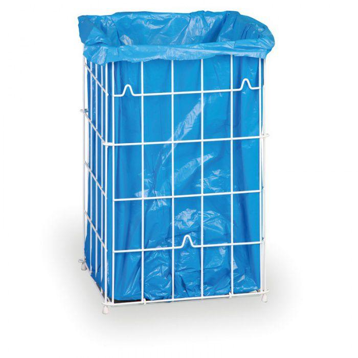 Drátěný koš na použité papírové ručníky, 45 litrů - bílý