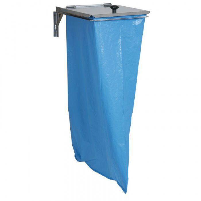 Nástěnný držák s víkem, na odpadkové pytle 120 litrů
