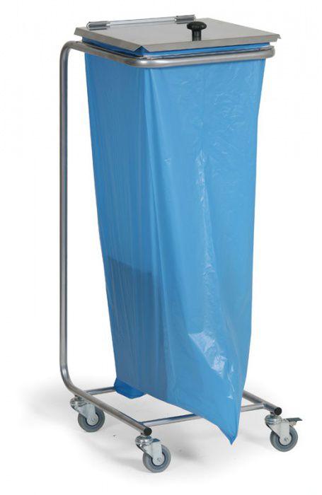 Mobilní stojan s víkem na odpadkové pytle s objemem 120 litrů